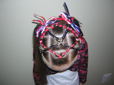 Hairstyle with ribbons
