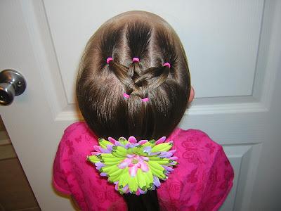 mini woven star hairstyle