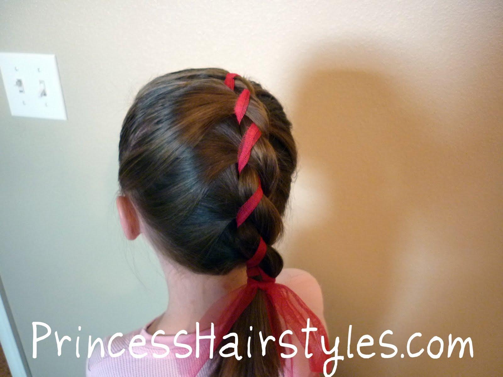 Peachy 2 Strand Ribbon French Braid Easy Hairstyles For Girls Short Hairstyles For Black Women Fulllsitofus
