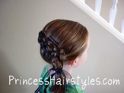 ribbon french braid