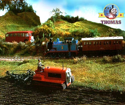 On The Road Is The Bus Bertie Thomas The Tank Engine And Terence The Tractor Are At The Farm Field