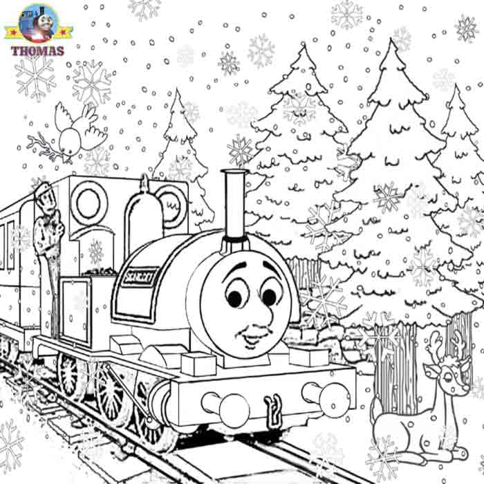 August 2009 train thomas the tank engine friends free for Thomas the train christmas coloring pages