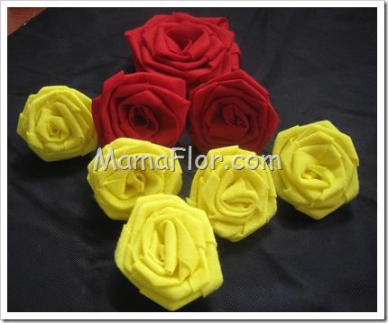 Como hacer Rosas de Telas, paso a paso y súper fáciles