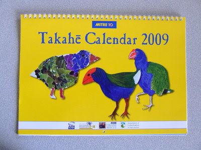 2008 decemberi naptár Pukekó Kaka: Takahe naptár 2008 decemberi naptár