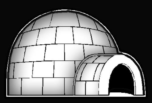 konstruksi rumah iglo orang eskimo