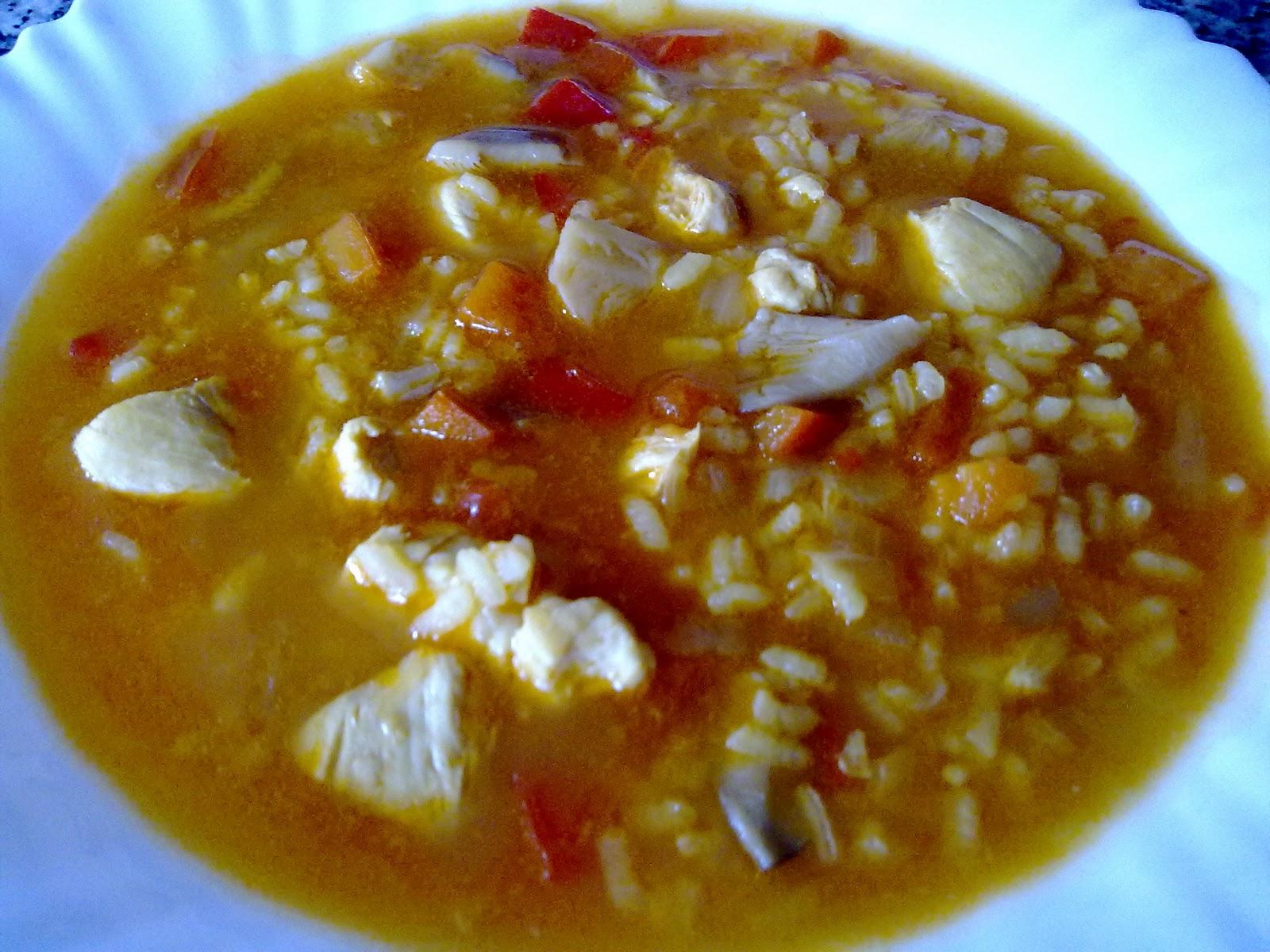 Arroz Caldoso Con Setas Y Pollo cocina y listo: arroz caldoso con pollo y setas al vino