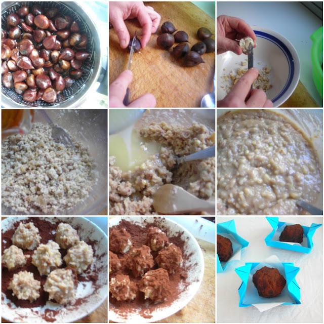 pressure cooked chestnuts in fissler vitaquick pressure cooker