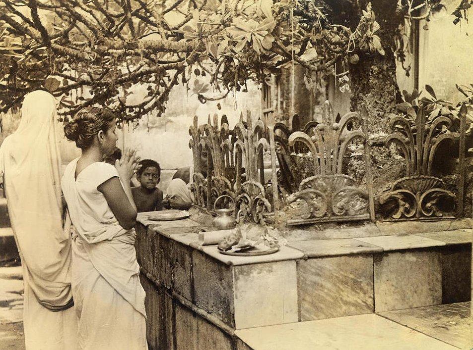 Hindu wife prays to the God Siva