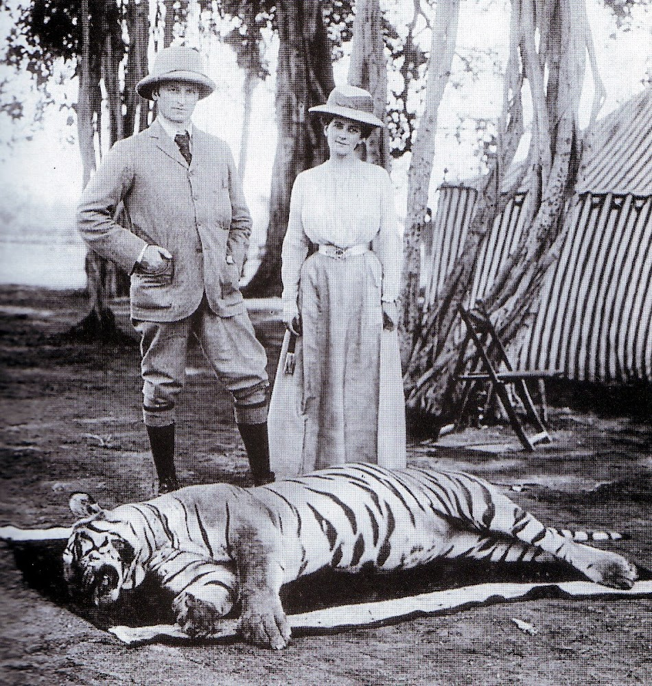 Lord Curzon and his Wife Mary Mary Curzon on a Tiger Hunt in 1902