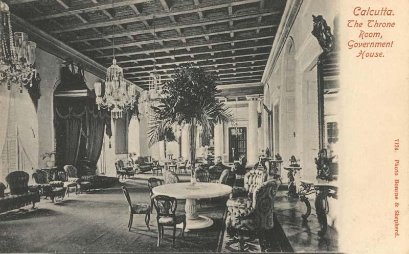 The Throne Room In Government House Calcutta Kolkata