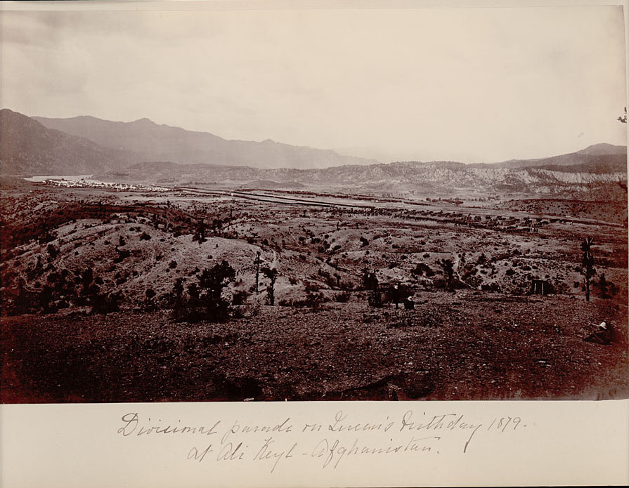 Distant View of Divisional Parade on Queen Victoria's Sixtieth Birthday - Afganistan 24 MAY 1879