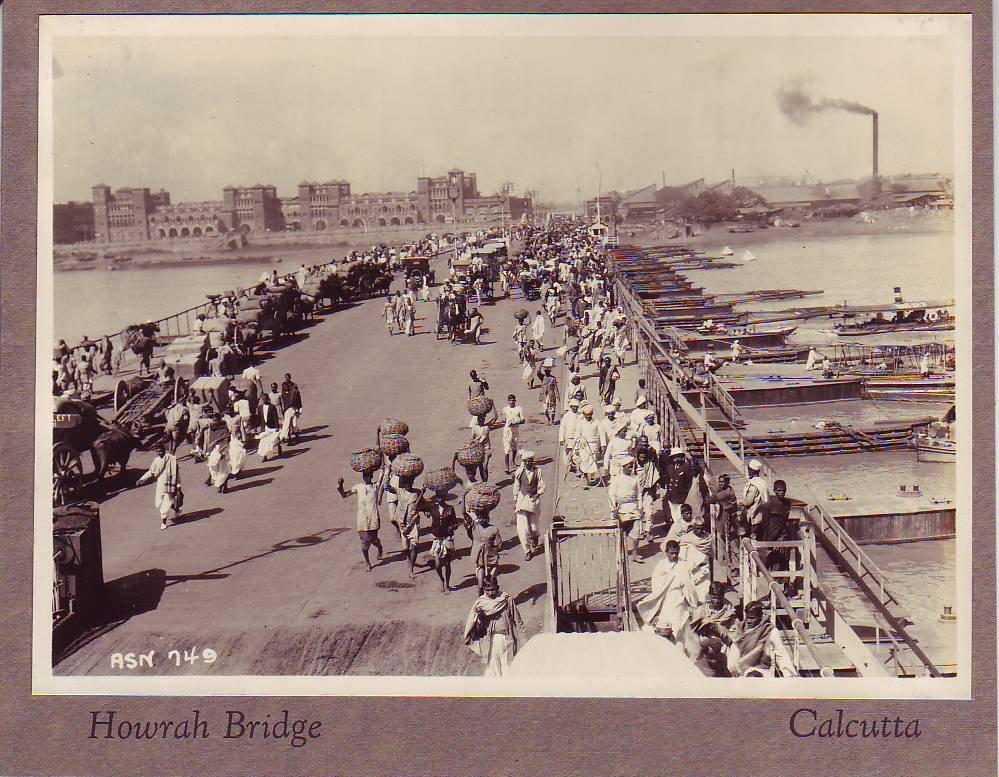 Old Howrah Bridge - Calcutta (Kolkata), c1920s
