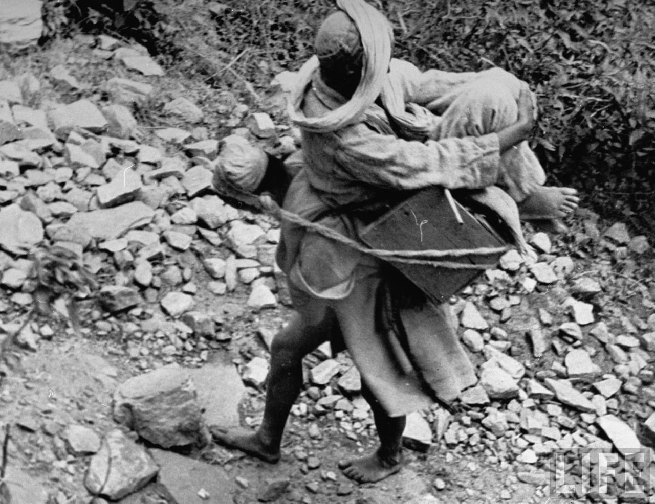 Carring a Pilgrim in Himalaya - 1938