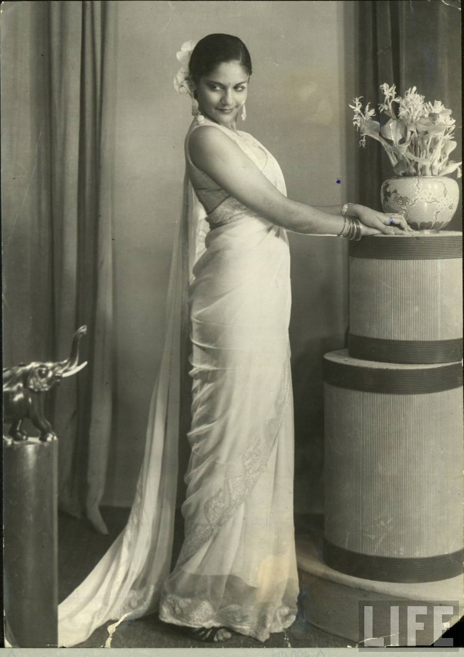 Beautiful Indian Lady in Saree - Vintage Photograph