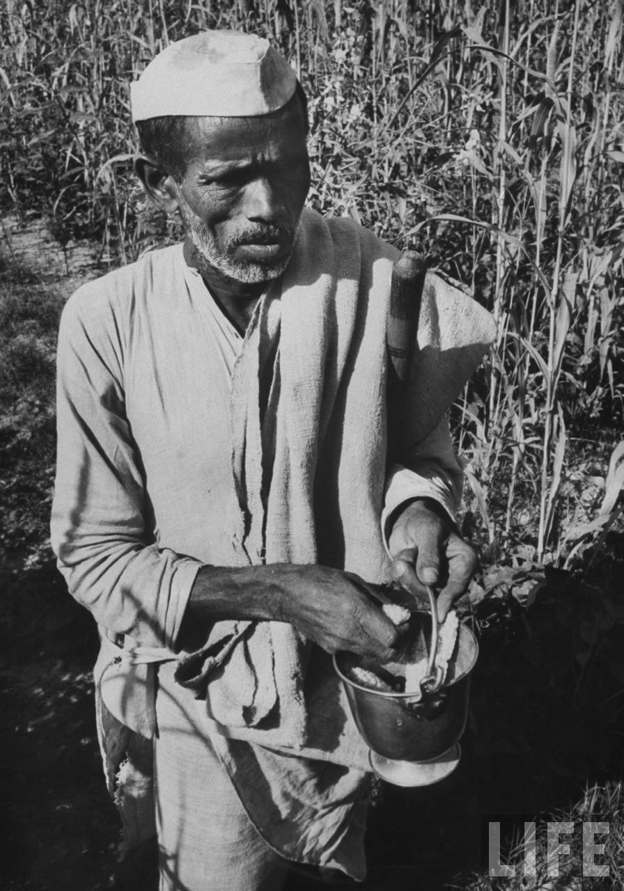 Professional Moslem beggar who supports family of 4 children - October 1962