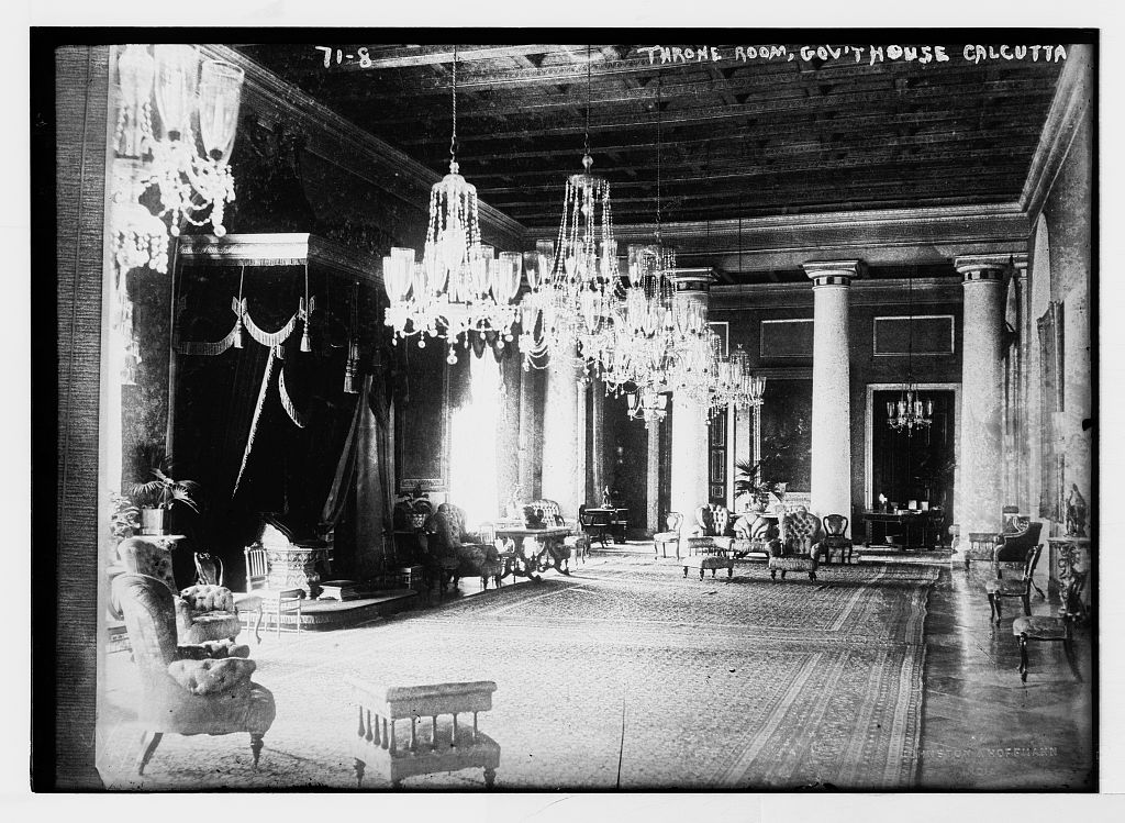 Throne room, government house, Calcutta, India