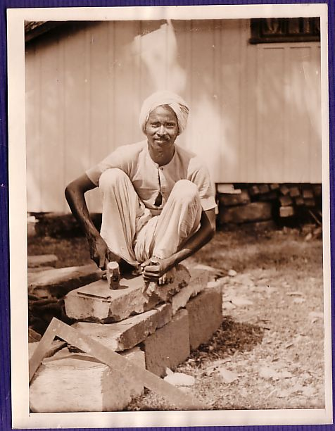 Stone Mason - Assam India 1920's