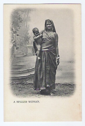A beggar Woman with Child