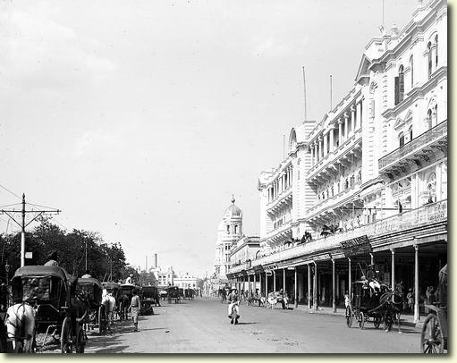 Chowringhee Road in Calcutta (Kolkata), Bengal - 1912