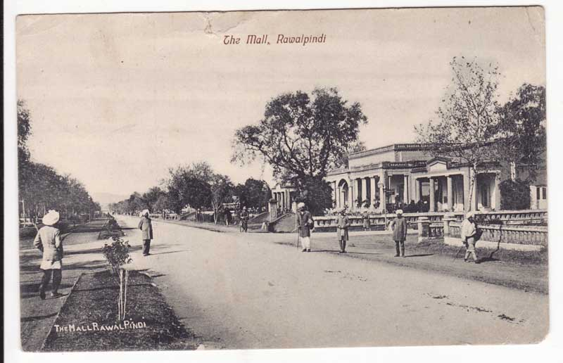The Mall - Post Card of Rawalpindi 1914