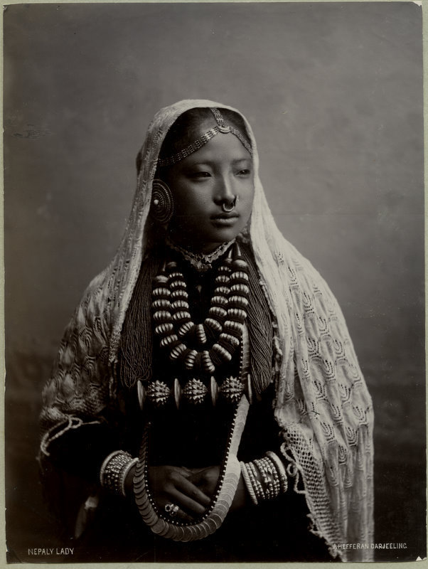 Beautiful Nepali Woman - Darjeeling India 1890s