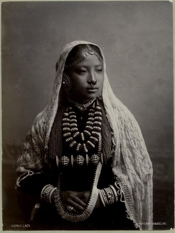 Beautiful Nepali Woman - Darjeeling India 1890s