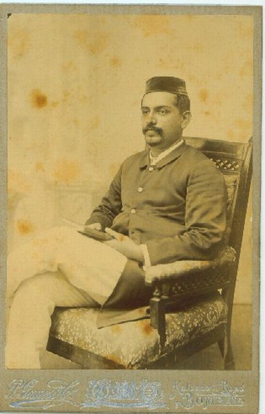 Vintage Photographs of Three Unknown Indian Male