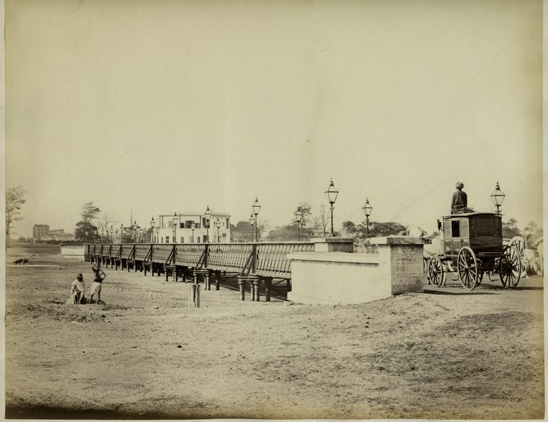 Horse Carriage on a Small Bridge - Probably from Madras 1870's