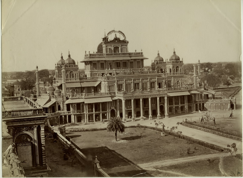 Albumen Photograph of the Kaiser Pasand Palace - Lucknow 1880's