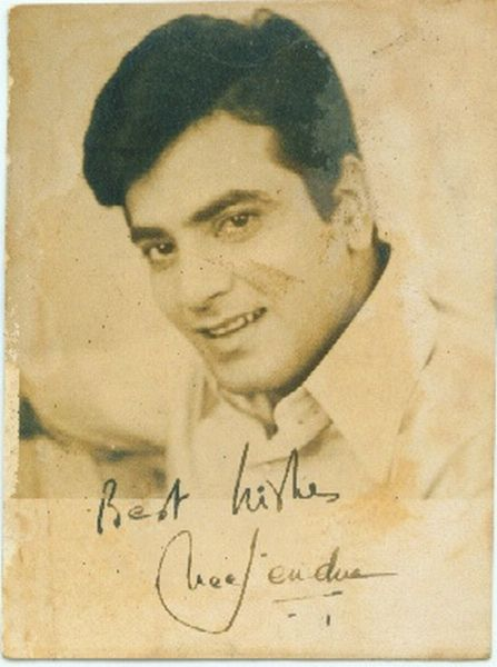 Signed Photograph of Indian Movie Actor Jeetendra