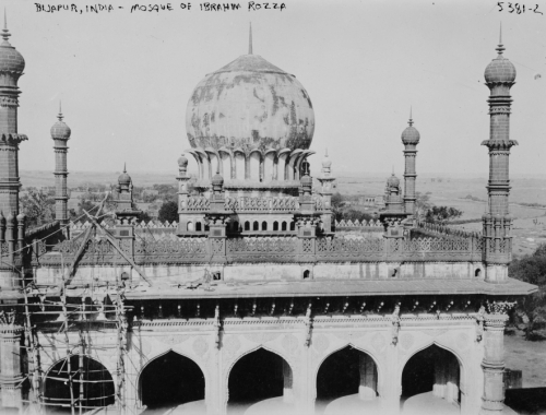 Mosque of Ibrahim Rozza - Bijapur Early 1900s