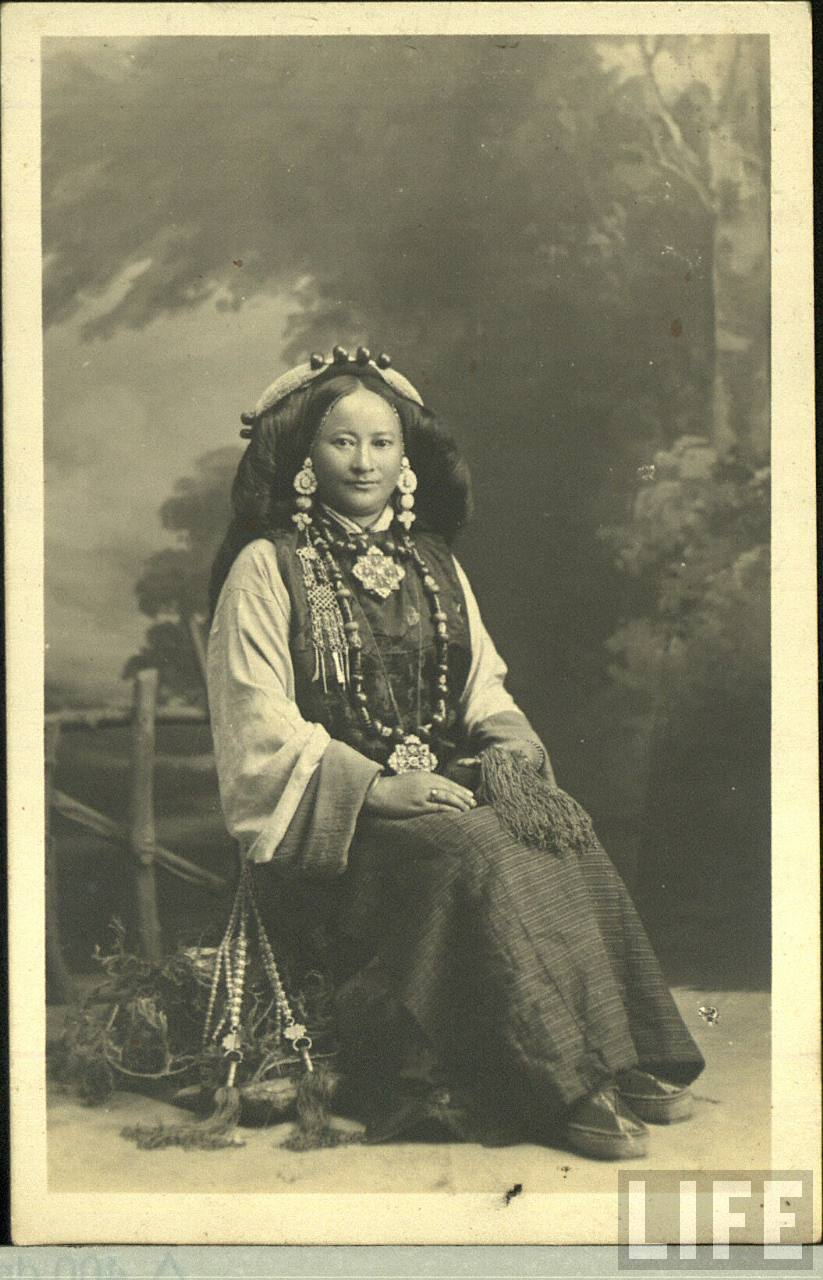 Studio Photograph of a Tribal Lady