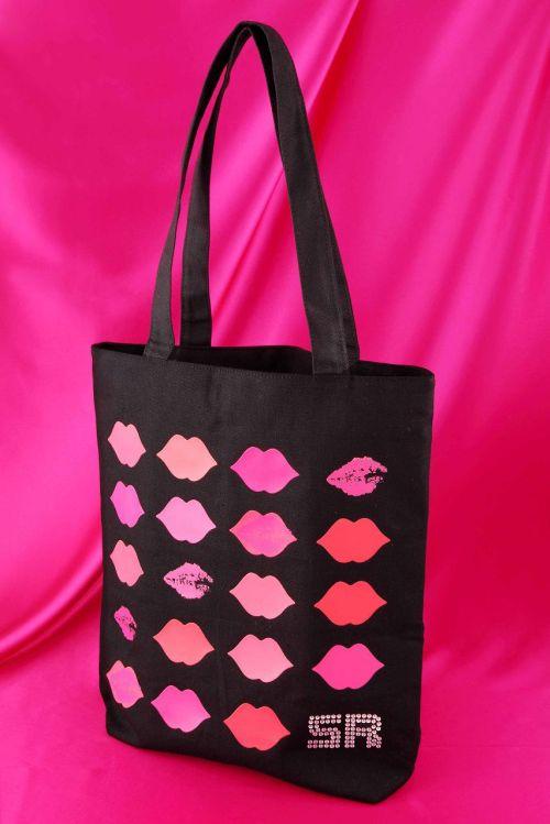 Sonia Rykiel Tote Bag With Crystal Rhinestones Logo