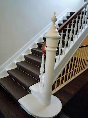 måla trappa med heltäckningsmatta