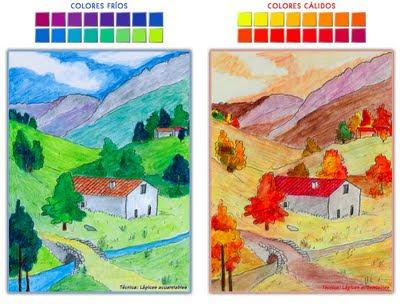 Pintar Crear Pensar Colores Fríos Y Colores Cálidos