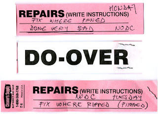Repairs Do-Over Rework at dry cleaners
