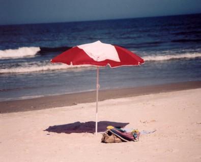 julieannbrady bucket list under a beach umbrella in Jacksonville Florida