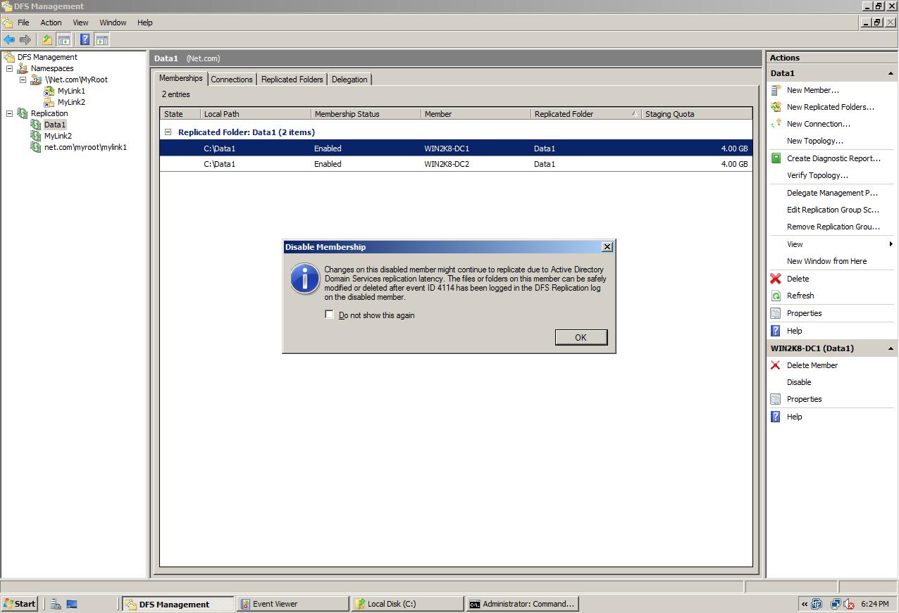 AD Shot Gyan: DFSR Replication Group in Windows 2008 R2