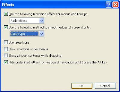 pilihan cleartype memperhalus total semua tampilan huruf/font di Windows