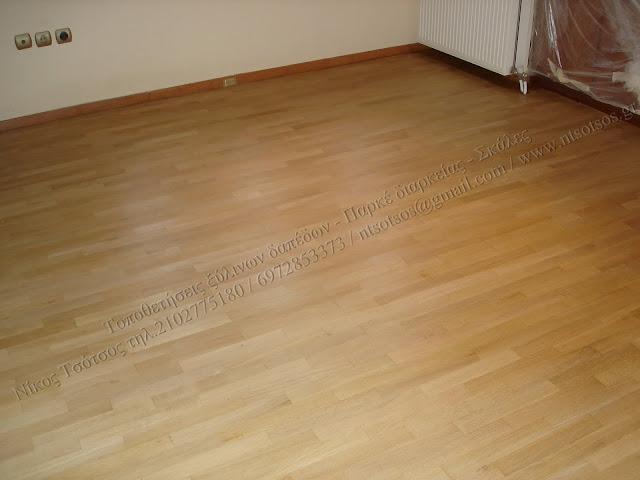 Ξύσιμο και γυάλισμα σε ξύλινα δάπεδα με βερνίκι ματ