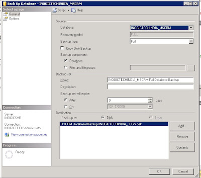 How to purge Log file of CRM database | Microsoft Dynamics