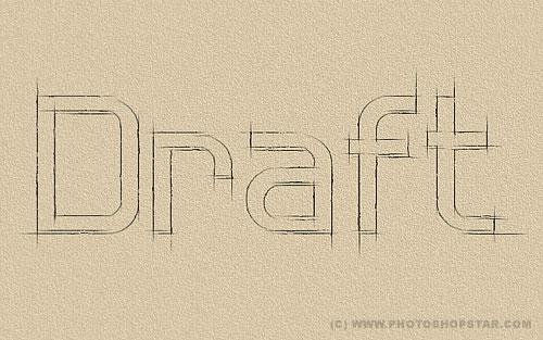 Efeitos em textos: Outline Sketch Effect   Canal Adobe Photoshop
