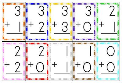Addition Flash Cards - 1+1+1=1
