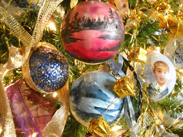 Hand Painted Ornaments in Memory