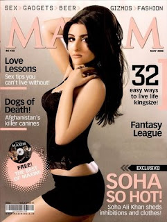 Soha Ali Khan Features In Maxims Magazine