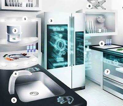 Futurix skarp la cucina smart del 2040 di ikea for Ikea cucina 3d