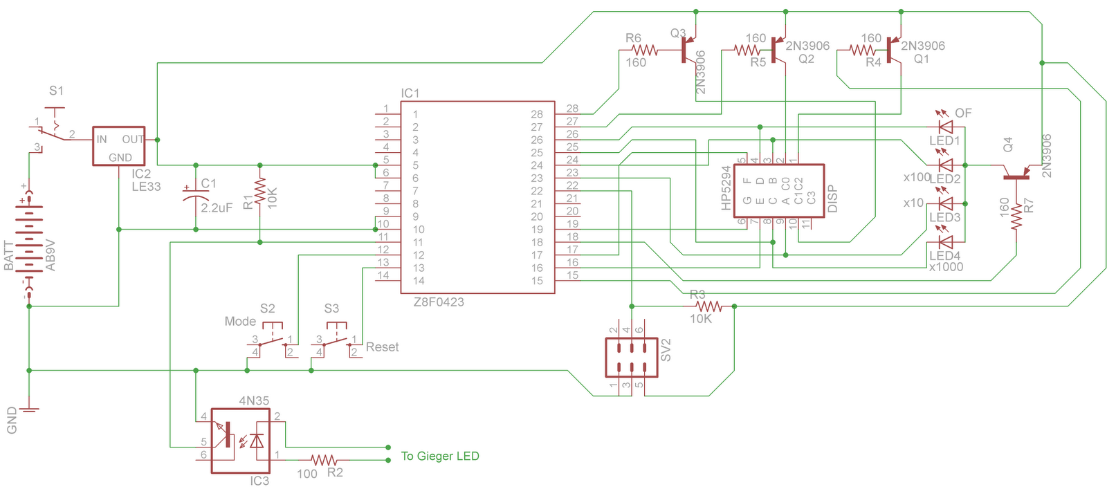 Deepaks Microcontroller Projects Zilog General 7 Segment Logic Diagram The Optocoupler Is Connected To Pin 11 Of With A Pull Up Resistor Used Ensure That There Proper
