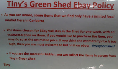photo of Tinys Green Shed ebay policy