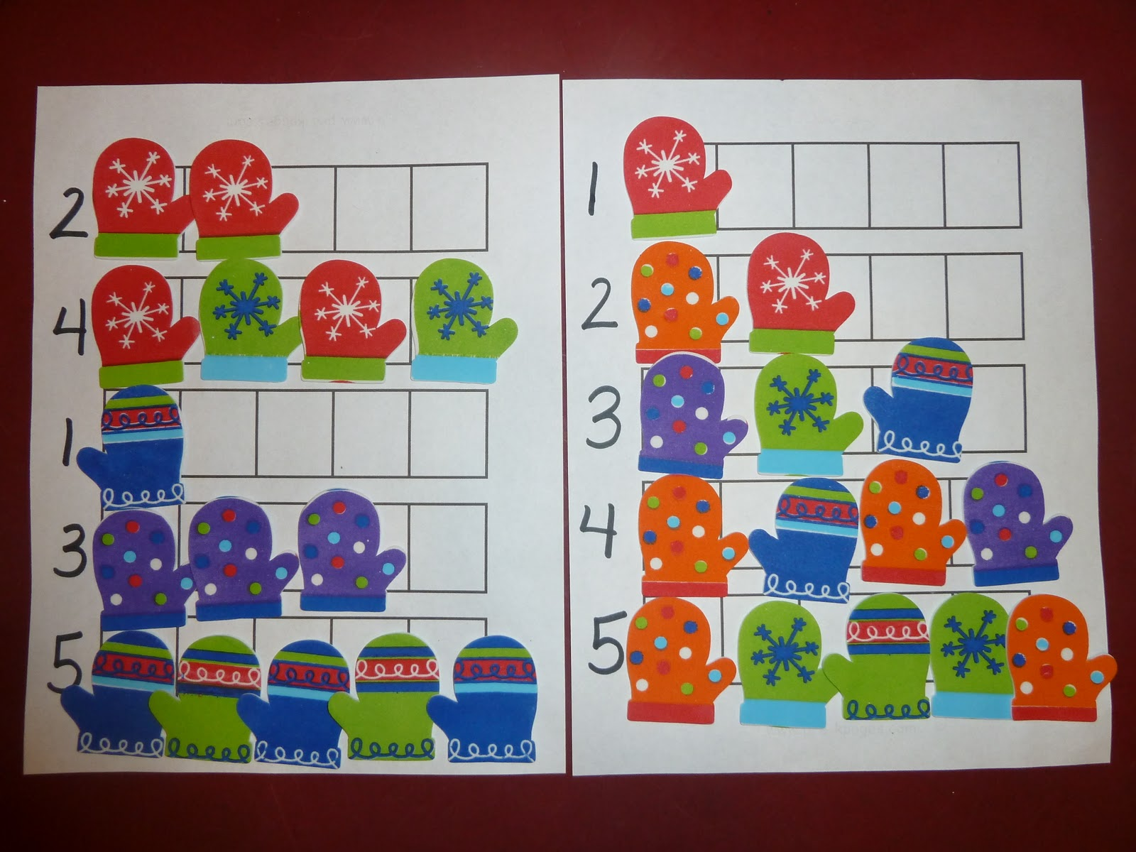 This Was An Easy And Simple Math Review Note I Used Mitten Stickers From Oriental Trading