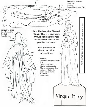 Free Mary Printables For Kids - Hail-mary-coloring-pages